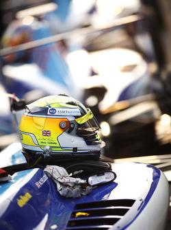 The helmet of Nick Yelloly