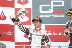 Rio Haryanto on the podium