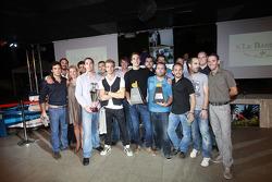 Dani Clos, Christian Vietoris and the Racing Engineering team
