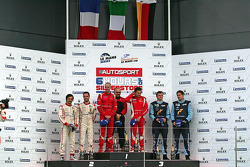 LMGTE PRO Podium: winnaars #51 AF Corse Ferrari F430: Giancarlo Fisichella, Gianmaria Bruni, 2de: #59 Luxury Racing Ferrari F458 Italia: Stéphane Ortelli, Frederic Makowiecki, 3de: #77 Team Felbermayr Proton Porsche 911 RSR: Marc Lieb, Richard Lietz
