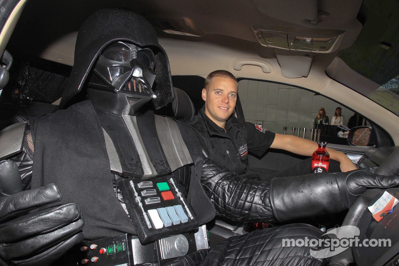 Jonathon Webb unveils the Star Wars livery on the Mother Energy Ford Falcon