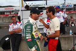Tony Kanaan, KV Racing Technology-Lotus and Vitor Meira, A.J. Foyt Enterprises