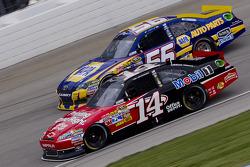 Tony Stewart, Stewart-Haas Racing Chevrolet and Martin Truex Jr., Michael Waltrip Racing Toyota