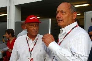 Niki Lauda and Ron Dennis