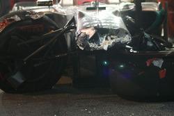 Coche de Michael Schumacher, Mercedes GP después del accidente