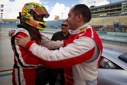 Pole winner #777 Ferrari of Québec Ferrari 458 Challenge: Emmanuel Anassis with #27 Ferrari of Houston Ferrari 458 Challenge: Mark McKenzie