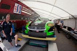 #99 Jaguar RSR Jaguar XKR at technical inspection