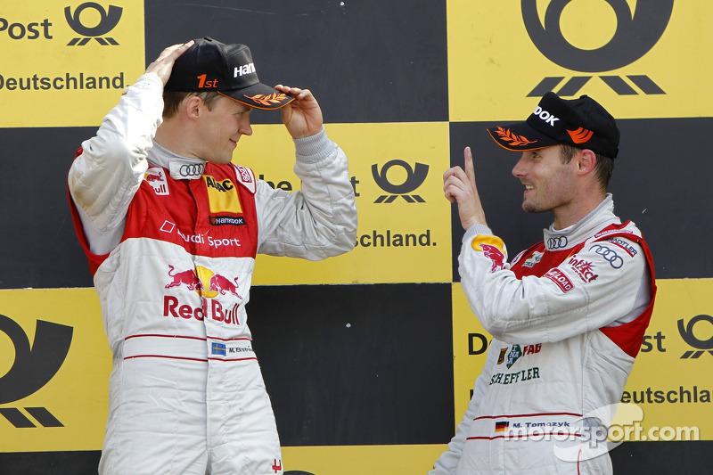 Mattias Ekström, Audi Sport Team Abt Sportsline, Audi A4 DTM 2009; Martin Tomczyk, Audi Sport Team Phoenix, Audi A4 DTM 2008