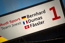 #1 Audi Sport Team Joest Audi R18 pit sign