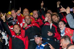 AF Corse team members celebrate