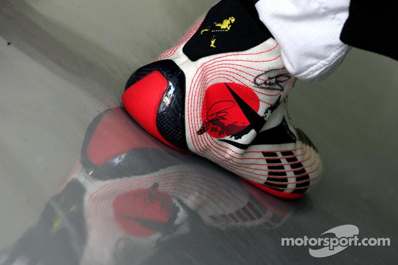 Shoes of Lewis Hamilton, McLaren Mercedes