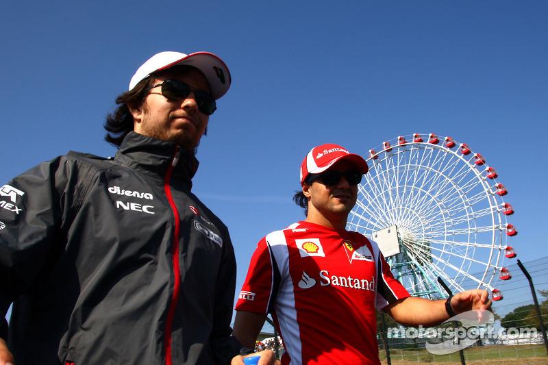 Sergio Pérez, Sauber F1 Team y Felipe Massa, Scuderia Ferrari