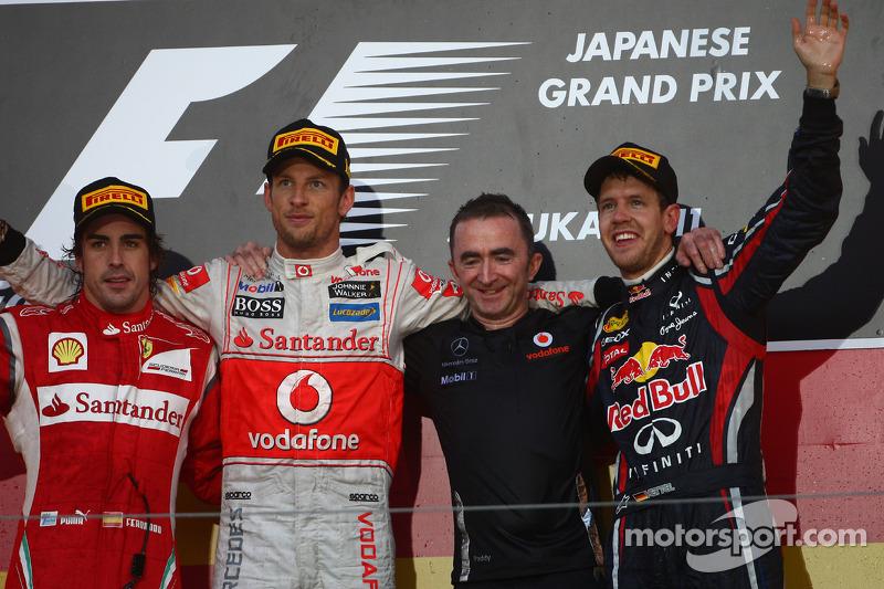 2011: 1. Jenson Button, 2. Fernando Alonso, 3. Sebastian Vettel