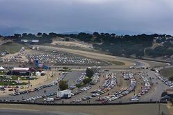 Spectator Porsche cars filled two corrals