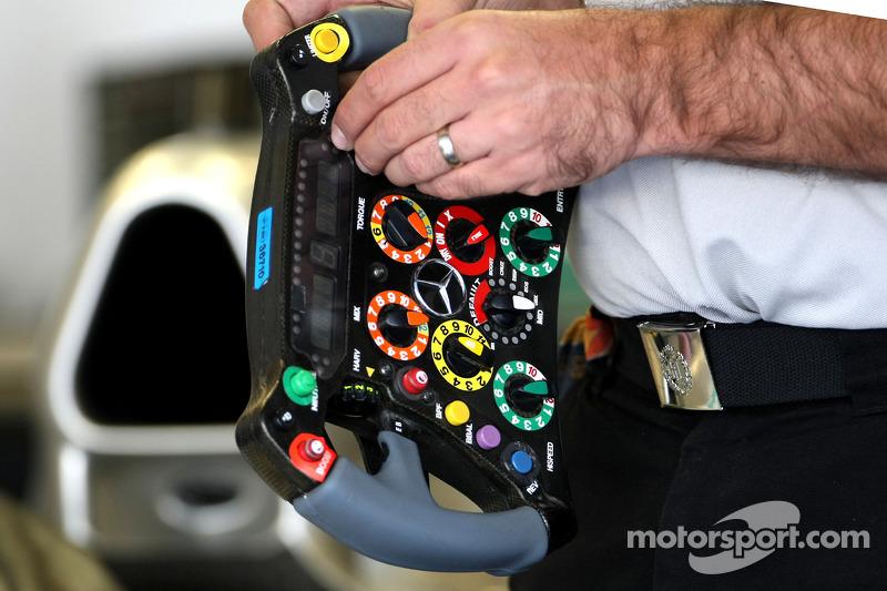 Mercedes GP steering wheels