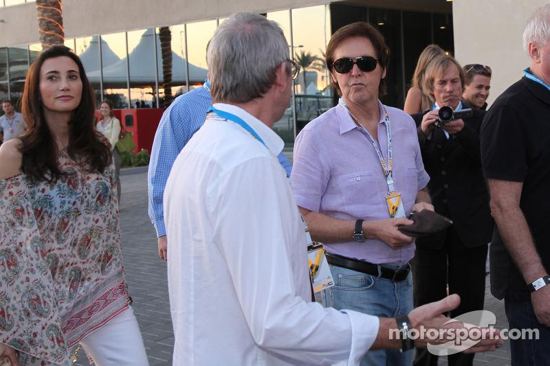 Paul McCartney arrives at the circuit