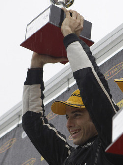 Podium: race winner Rick Kelly
