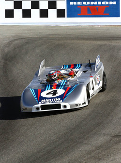 Phil Daigrepont drops into the Corkscrew at Rennsport Reunion IV