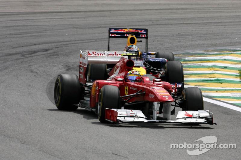 Felipe Massa, Scuderia Ferrari and Sebastian Vettel, Red Bull Racing