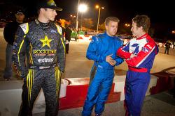 Tanner Foust, A.J. Allmendinger and Ryan Briscoe