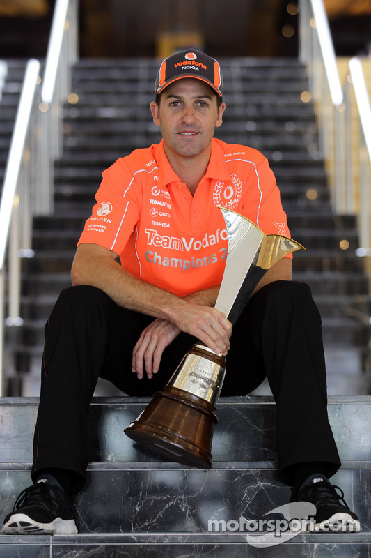 Jamie Whincup with the Champions trophy