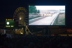 1971 movie classic 'Le Mans' viewing on the start-finish line