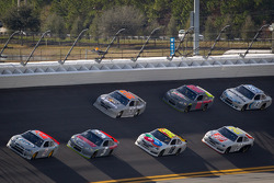 Brad Keselowski, Penske Racing Dodge leads the pack