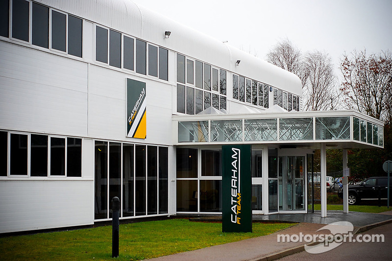 The Caterham CT01 in the team's shop