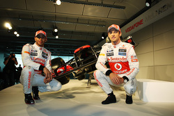 Lewis Hamilton, McLaren Mercedes en Jenson Button, McLaren Mercedes
