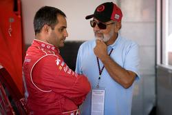 Juan Pablo Montoya, Earnhardt Ganassi Racing Chevrolet with father Juan