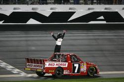 Race winner John King, Red Horse Racing Toyota celebrates