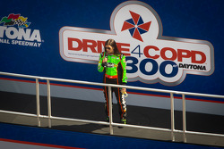 Drivers introduction: pole winner Danica Patrick, JR Motorsports Chevrolet