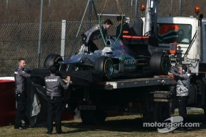 Michael Schumacher, Mercedes GP stops on track
