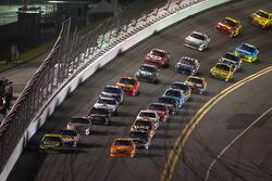 Matt Kenseth, Roush Fenway Racing Ford and Joey Logano, Joe Gibbs Racing Toyota lead the field