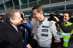 Jean Todt, President FIA and Tiago Monteiro, SEAT Leon WTCC, Tuenti Racing Team