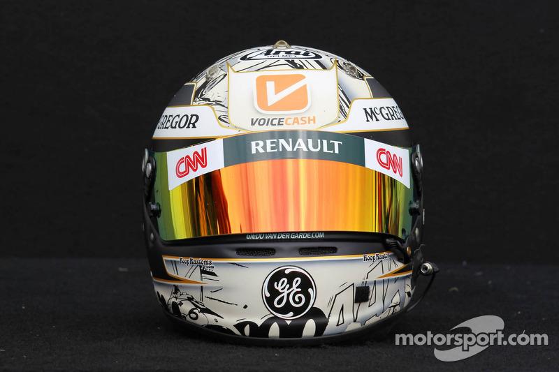 Giedo van der Garde, Caterham F1 Team, Test driver, helmet