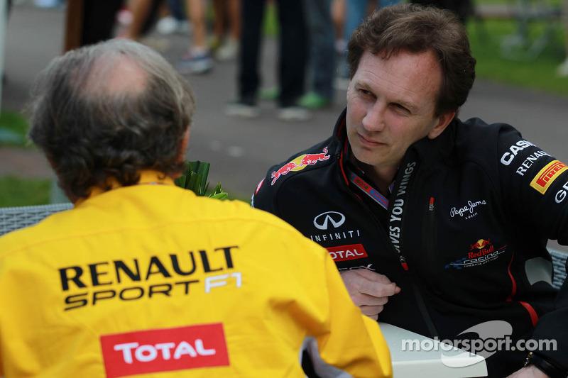 Jean-Francois Caubet, Managing director of Renault met Christian Horner, Red Bull Racing, Sporting D