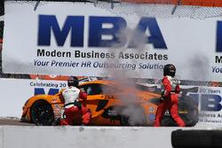 #62 Klenin Performance Racing McLaren 570S GT4: Mark Klenin, in trouble