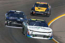 Blake Koch, Kaulig Racing Chevrolet; Tyler Reddick and Mario Gosselin