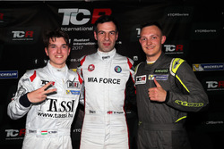 Pole positiion for Davit Kajaia, GE-Force, Alfa Romeo Giulietta TCR, second plce Attila Tassi, M1RA, Honda Civic TCR, third place Ferenc Ficza, Zele Racing, SEAT León TCR