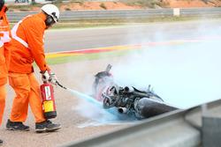 Xavi Forés, Barni Racing Team after a big fire