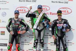 Podio Supersport: Winner Martin Jessopp, Triumph, Ian Hutchinson, Yamaha, James Hillier, Kawasaki