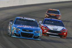 Dale Earnhardt Jr., Hendrick Motorsports, Chevrolet; Joey Logano, Team Penske, Ford