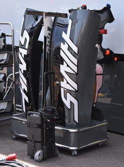 Haas F1 Team VF-17 bodywork detail