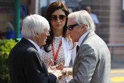 Bernie Ecclestone, Fabiana Ecclestone, and Jackie Stewart