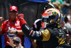 James Hinchcliffe, Schmidt Peterson Motorsports Honda, during the pit stop competition