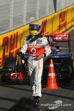 Pole position for Lewis Hamilton, McLaren Mercedes