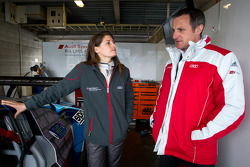 Cyndie Allemann and Audi Sport Customer Racing Johannes Trost