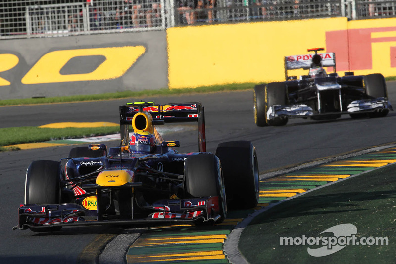 Mark Webber, Red Bull Racing and Pastor Maldonado, Williams F1 Team