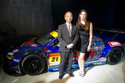 Cyndie Allemann with Hitotsuyama Racing team owner Mikio Hitotsuyama